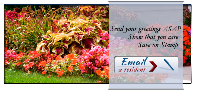 Email a resident at Grace Village Retirement Home
