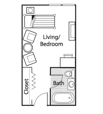 Independent Living Option 1 bedroom plan